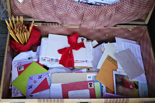 Just a few of the thousands of letters sent out