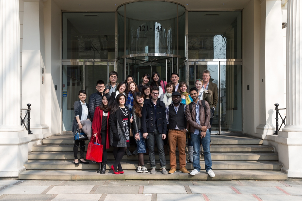 The MSc Brand Leadership students outside Fitch