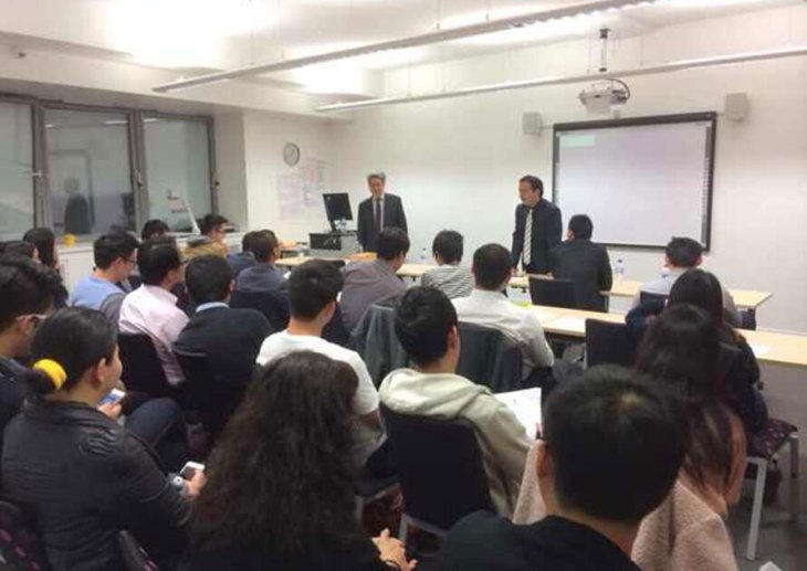 visit of Mr. Weiguo Wang, the Chair of Hanxin Capital to norwich business school at uea university of east anglia