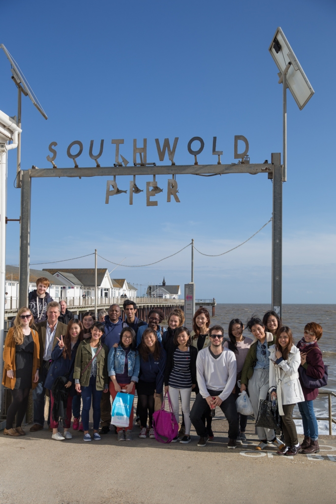 Brand Leaders, class of 2014-15, on a visit to Southwold to learn about Adnams, the beer from the coast